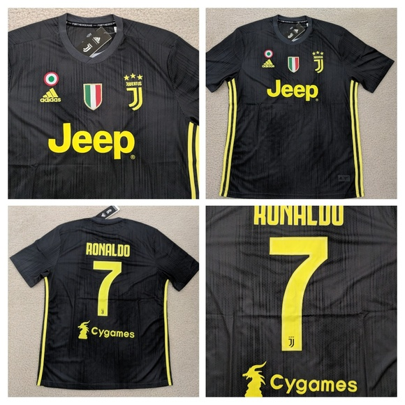the best attitude 0df32 25943 Cristiano Ronaldo Juventus Third Away 18/19 Jersey NWT